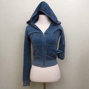 JUICY COUTURE Full Zip Velour Hoodie P/XS
